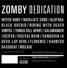 ZOMBY - DEDICATION  CD NEU