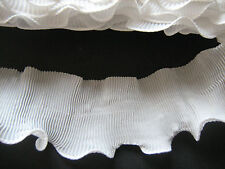 Antique White Chiffon Ruffle Pleated Trim   Crafts/Costume/Victorian/Goth