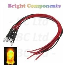 Candle/Flickering Pre-Wired Yellow LED 3mm : 9V ~ 12V : 1st CLASS POST