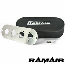 RAMAIR Twin Carb Bolt On Air Filters With Baseplate MG Pinto Holbay 100mm