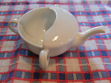 VINTAGE WHITE CERAMIC  FEEDING CUP POURER  WITH MEASURE MARKS