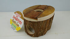 Classic Rustic Fun Natural Wood Oval Wooden House Gerbil, Hamster, Mouse Hideout