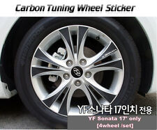 "Carbon Tuning Wheel Mask Sticker For Hyundai YF Sonata; i45  17"" [2010~2012]"