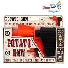 KIDS CHILDREN'S POTATO SPUD GUN TOY CLASSIC RETRO PISTOL SHOOTER JOKE UK SELLER