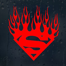 Bloody Superman Sign Fire Flames Car Decal Vinyl Sticker For Window Bumper Panel