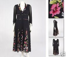 NEW!  Zaftique ANGEL ROSE DRESS Black 0Z 1Z 6Z / 14 16 36 / Large L XL 1X 6X