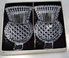 vintage pair of thistle shaped glass pin trays or butter dishes from Scotland