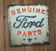GENUINE FORD PARTS VINTAGE STYLE Metal Signs Auto Shop Motor Oil Can Display Dad