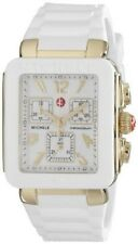 Michele Park Jelly Bean Women's Rose Gold Tone White Silicone Watch MWW06L000014