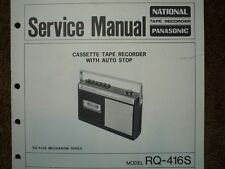 PANASONIC RQ-416S Cassette tape Recorder Service manual wiring parts diagram