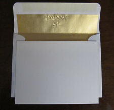 10 Hallmark Blank Note Cards with 11 Gold Foil Envelopes
