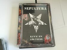 Sepultura -Live In Sao Paulo  DVD Sepultura UK PAL 2 DISC DVD MINT
