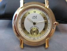JAZ Watch Quartz Movement Made in France With Leather Strap