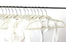 50 Pack Hangers Clothes Hangers White Velvet Hanger Clothing Suit Shirt New