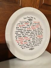 Oven to Table Yum Yum Pie Plate With Recipe T.G. Green, Epicure  made in England