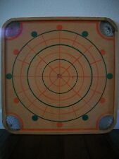 VINTAGE CARROM 2 SIDED GAME BOARD CROKINOLE & CHECKERS