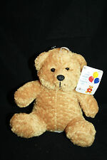 "US Balloon Weight Brown Tan Stuffed Animal Soft TEDDY BEAR 6"" Black Flocked Nose"