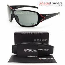 TAG Heuer RACER SUNGLASSES BLACK/ RED POLARIZED GREY RACING CYCLING 9201 131 68