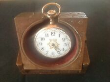 VINTAGE HAND CARVED WOOD POCKET WATCH STAND LUZERN SWITZERLAND