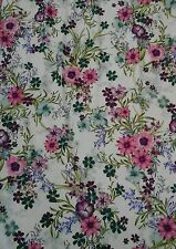 "Pretty Flower Floral JERSEY LYCRA Stretch Fabric Material 60""Width Pink"
