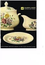 PUBLICITE ADVERTISING   1962   VILLEROY & BOCH  art  de la table service BOUQUET
