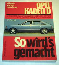 Reparaturanleitung Opel Kadett D 1,2 1,6 1,6 1,8 liter, Baujahre 1979 - 1984