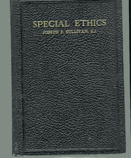 REV JOSEPH F. SULLIVAN Special Ethics Lectures HB 8th Edition 1949