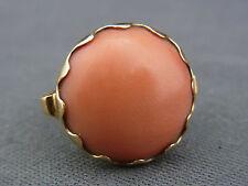 Bonito anillo de edad 585/- oro con coral aprox. 20er años