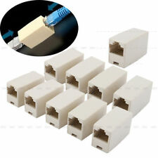 Lot 10 CAT5 CAT 5e RJ45 Lan Ethernet Cable Extender Adapter Coupler Inline Joinr