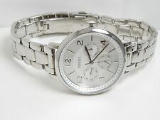 "FOSSIL Ladies ""Jacqueline"" Multi-Function Watch ES3664 Stainless / Silver Dial"