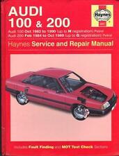 AUDI 100 1.8, 1.9, 2.0, 2.1, 2.2, 2.3 e, CD, es, Avant, de 200, Turbo manual de Haynes 1982-1990