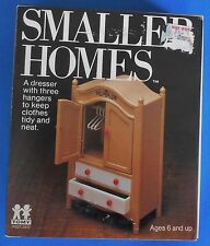 Vintage TOMY Smaller Homes Dresser, Wardrobe Dollhouse Furniture doll house