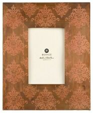 Burnes of Boston Florence Damask Wood picture Photo frame 4x6 easel hanging new