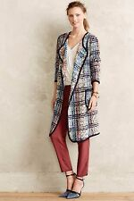 NWT ANTHROPOLOGIE PLENTY by TRACY REESE ELSIE PLAID COAT XS