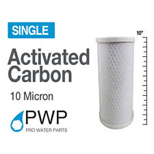 4.5 x 10 In Carbon Block Water Filter Whole House RO CTO 10 Micron