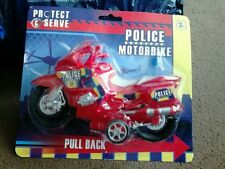 Childs toy pull back motorbike