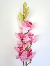 Artificial Silk Latex Cymbidium Orchids 82cm - Light Pink