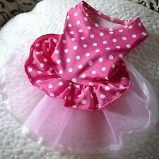 DOG DRESS PINK TUTU PUPPY TEACUP TINY XS 21CM CHIHUAHUA YORKIE CLOTHES