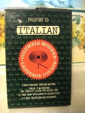 "Passport to Italian Language Course w/ 12-7"" LP Records & Book Dictionary  1961"