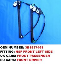 VW PASSAT B5 SALOON COMPLETE ELECTRIC WINDOW REGULATOR FRONT LEFT *1996-2005*