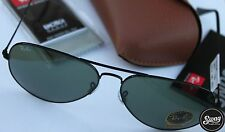 NEW RAY BAN AVIATOR RB3025  58MM POLARIZED BLACK MIRROR BLACK FRM