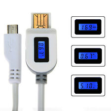 Micro USB Charging Cable LCD Current Voltage Indicator for Samsung HTC LG Mobile