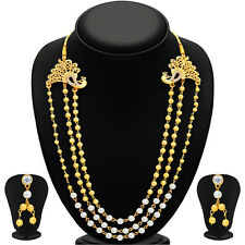 Sukkhi Amazing Pecock Gold Plated Necklace Set For Women 2452NGLDPP1200