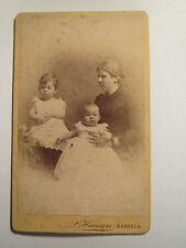 Kappeln - 1890 - Frau und 2 kleine Kinder - Portrait / CDV