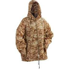 "45"" M/L BROWN CAMO Hooded WATERPROOF PONCHO Rain Coat Jacket Hunting Mens Ladies"
