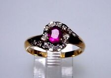 Magnificent Genuine Ruby Solid 14-kt Gold Ring, Spectacular Design (#1713)