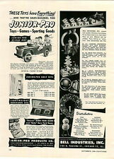 1948 PAPER AD Toy Junior Pro All Steel Jeep Pedal Car Army