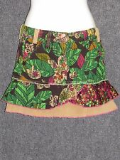MISS SIXTY Colorful Corduroy Print Junior Girls Mini Skirt SZ 11