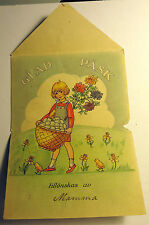 Glad Pask Happy Easter Swedish Greeting Card w/1920 Postmark