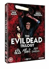 EVIL DEAD TRILOGY ALL 3 FILMS MOVIE COLLECTION BOX SET PART 1 2 3 + EXTRAS DVD